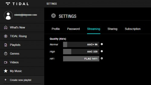 tidal-web-player-settings