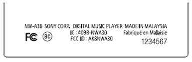 sony-walkman-a30-fcc-label