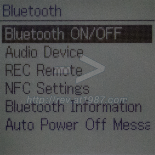 Sony PCM-A10 – Bluetooth