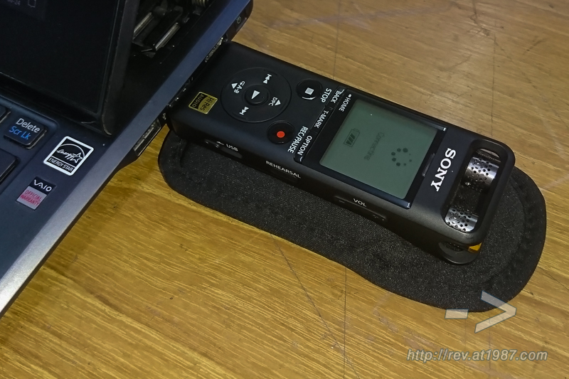 Sony PCM-D10 connects to VAIO Duo 11