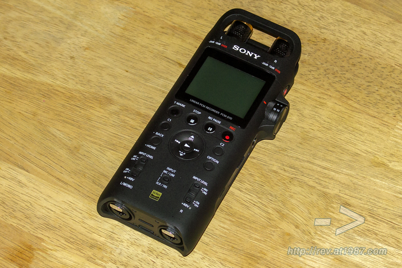 Sony PCM-D10 – Front