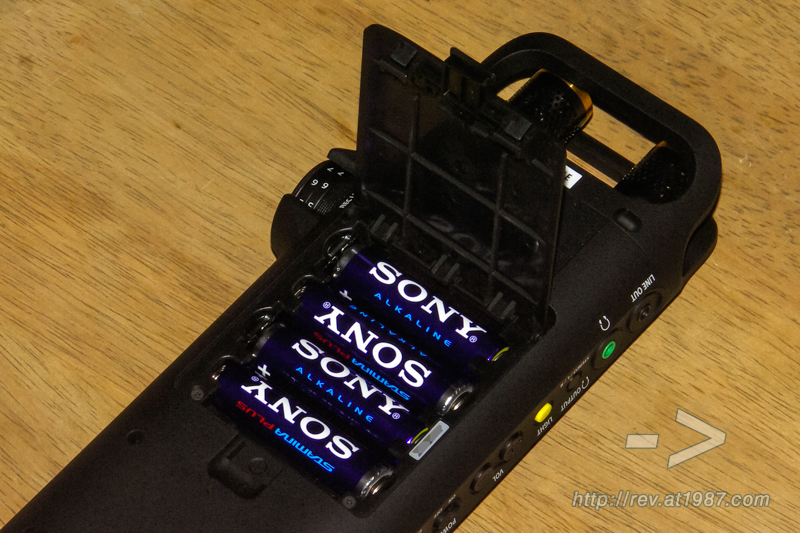 Sony PCM-D10 – Batteries