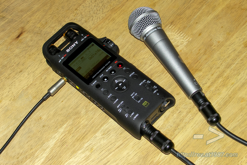 Sony PCM-D10 with Shure SM58 50th Anniversary