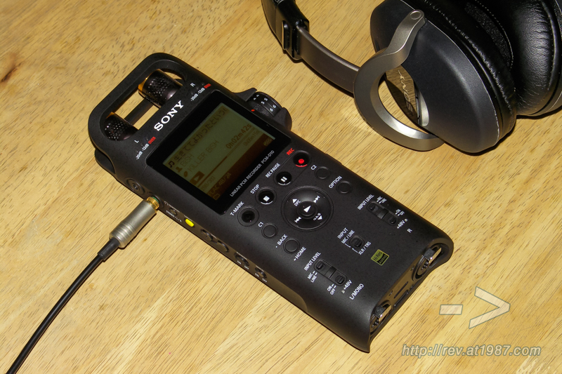 Sony PCM-D10 with MDR-Z1000