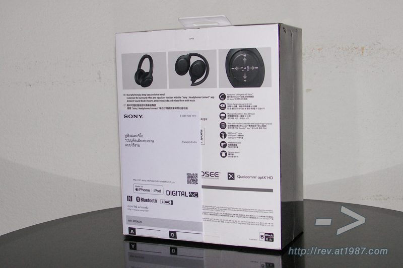 Sony WH-XB900N – Package Back