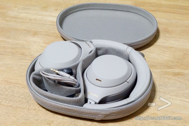 Sony WH-1000XM4 – Carrying Case Opened