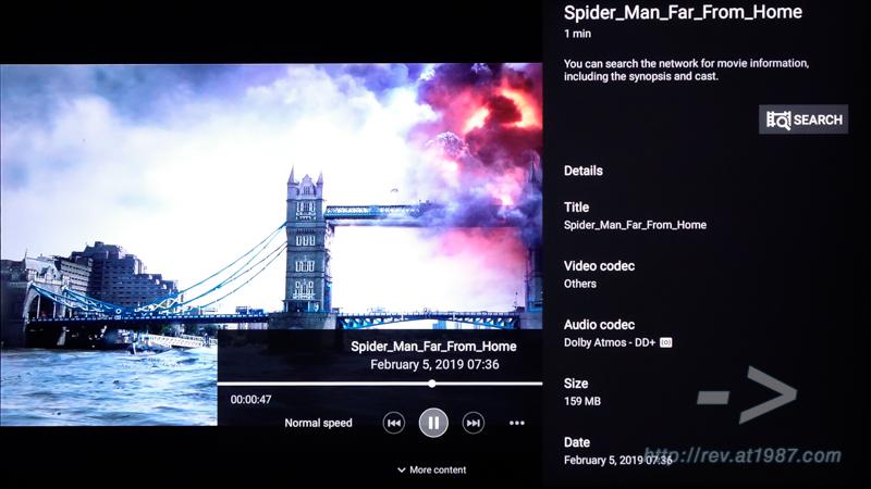 Sony BRAVIA KD-43X8000H – Media App